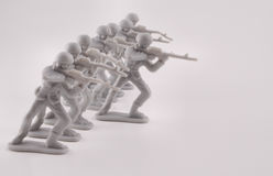 Army Men. Vintage army men plastic toys Royalty Free Stock Photography