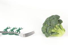 Army Men Broccoli Fork Royalty Free Stock Photos