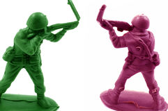 Army men with broken guns Royalty Free Stock Images