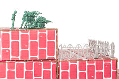 Army Men Guarding Base Stock Images