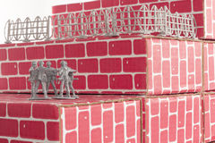 Army Men Impossible Odds Royalty Free Stock Image