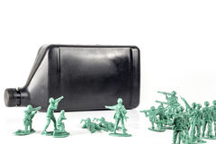 Army Men Oil Royalty Free Stock Images
