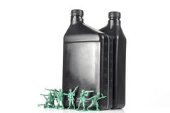 Army Men Oil Royalty Free Stock Photo