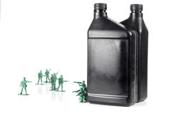 Army Men Oil Stock Images