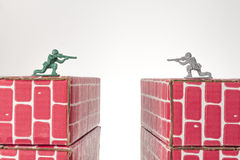 Army Men Rivals Stock Photo