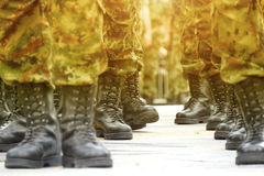 Army Military Boots Stock Photos