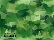 Army Military. Camouflage Background. Made of Geometric Triangles Shapes.  Vector illustration. polygonal style. Royalty Free Stock Photos
