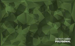 Army Military. Camouflage Background. Made of Geometric Triangles Shapes.  Stock Images