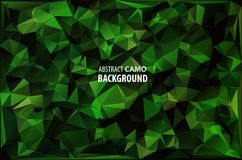 Army Military. Camouflage Background. Made of Geometric Triangles Shapes.  Vector illustration. polygonal style. Royalty Free Stock Photography