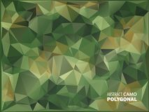Army Military. Camouflage Background. Made of Geometric Triangles Shapes.  Vector illustration. polygonal style. Royalty Free Stock Images