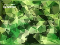 Army Military. Camouflage Background. Made of Geometric Triangles Shapes.  Royalty Free Stock Photo