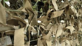 Army Military Camouflage Net. Protective Khaki Disguise Surface stock video footage