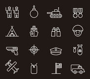Army and military icons Royalty Free Stock Photo