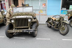 Army military jeep & motorcycle Royalty Free Stock Photos