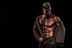 Army, military, strong man, weights, exercising, gym Stock Images