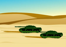 Army military tanks. Stock Photos