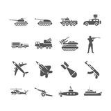 Army, military vector icons set Stock Image