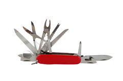 Army multitool penknife. On a white background Stock Photos