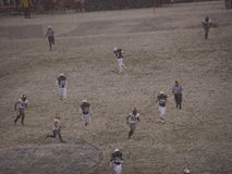 2013 Army Navy snow bowl football game Royalty Free Stock Image