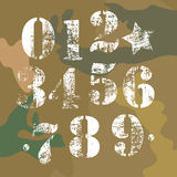 Army numbers Royalty Free Stock Images