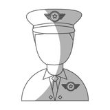 Army officer avatar character Royalty Free Stock Photo