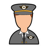 Army officer avatar character Stock Photography