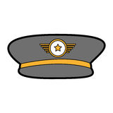 Army officer hat icon Stock Images