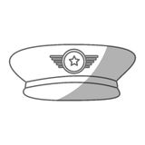 Army officer hat icon Stock Photos
