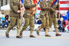 Army Officers Marching Royalty Free Stock Images