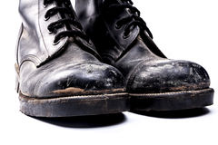 Army old Boots Royalty Free Stock Photo