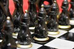 Army of Old Chess Stock Image