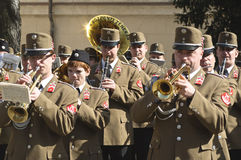 Army orchestra. Members of the Hungarian Army Orchestra Stock Images
