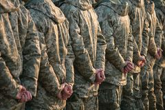 Army parade, military uniform soldier row march. Army parade, military force uniform soldier row march stock image