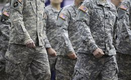 Army Parading Royalty Free Stock Photo