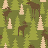 Army pattern of deer and forest. Royalty Free Stock Photo