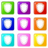 Army protective shield set 9 Royalty Free Stock Image
