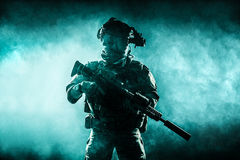 Army Ranger in field Uniforms Royalty Free Stock Images