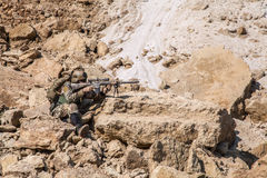 Army ranger in the mountains Stock Photography