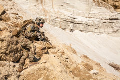 Army ranger in the mountains Stock Image