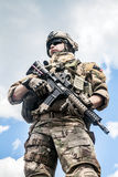 Army ranger. United States Army ranger with assault rifle stock photos