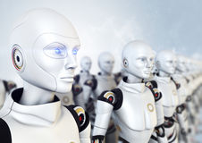 Army of robots Stock Images