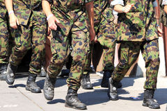 Army running with walking event Royalty Free Stock Photography
