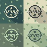 Army seamless signs print Stock Images