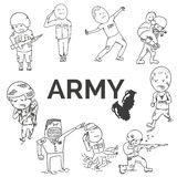 Army set Stock Photography