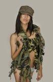 army sexy woman Στοκ Εικόνα