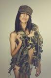 army sexy woman Στοκ Εικόνες