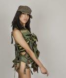 army sexy woman Στοκ Φωτογραφία