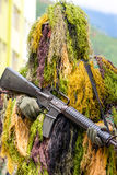 Army Sniper Typical Camouflage Royalty Free Stock Photo