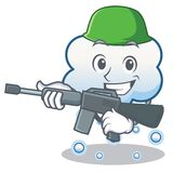 Army snow cloud character cartoon Stock Photography