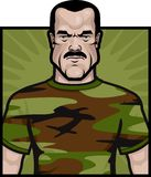 Army Soldier. A soldier in a camouflage shirt Stock Photography
